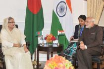 Prime Minister, Narendra Modi meeting the Prime Minister of Bangladesh, Sheikh Hasina, at New York on September 24, 2015.
