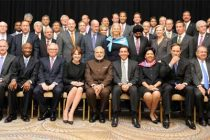 Prime Minister, Narendra Modi in a group photograph with the leading Fortune 500 CEOs, at a special event, in New York