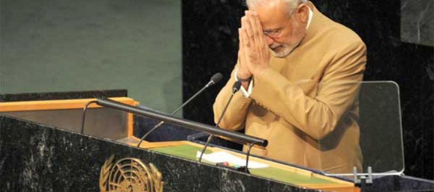 Modi begins and ends UN address with 'namaste'