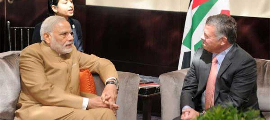 Prime Minister, Narendra Modi meeting the King of the Hashemite Kingdom of Jordan, H.M. King Abdullah II, in New York
