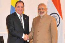 Prime Minister, Narendra Modi meets the Prime Minister of Sweden, Stefan Lofven, in New York City on September 25, 2015.