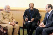 Prime Minister, Narendra Modi meets the President of Egypt, Abdel Fattah el-Sisi, in New York on September 25, 2015.