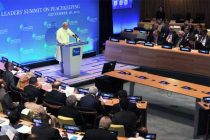 Prime Minister, Narendra Modi delivering speech at the UN Peacekeeping Summit, in New York on September 28, 2015.