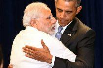 Prime Minister, Narendra Modi meeting the President of United States of America (USA), Barack Obama, in New York