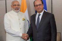 Prime Minister, Narendra Modi meeting the President of France, Francois Hollande, in New York on September 28, 2015.