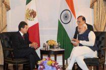 Prime Minister, Narendra Modi meeting the President of Mexico, Enrique Pena Nieto, in New York
