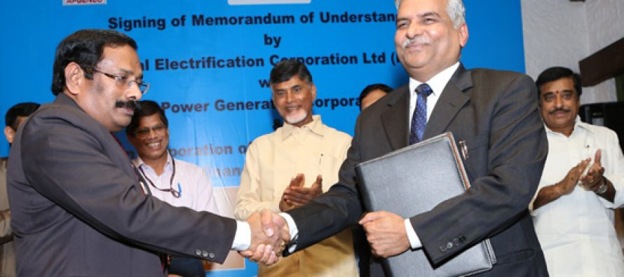 REC signs MoUs for Rs.9000 Crores with APGENCO and APTRANSCO
