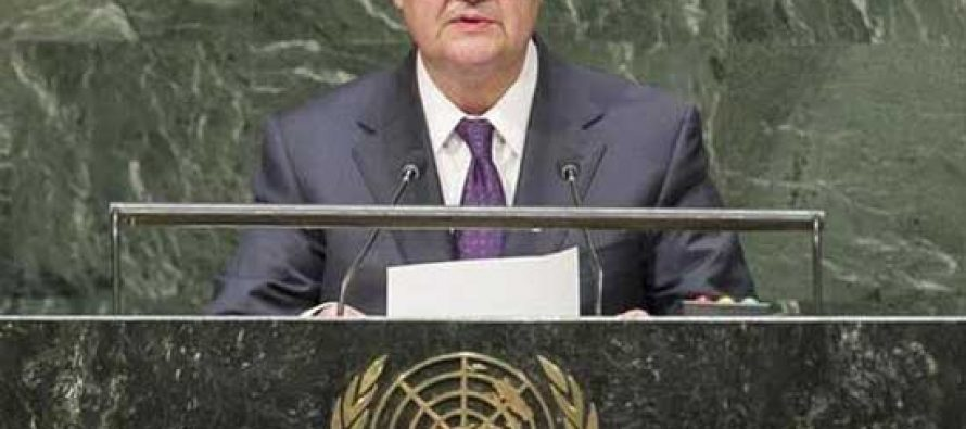 ADDRESS BY THE MINISTER OF FOREIGN AFFAIRS OF THE REPUBLIC OF UZBEKISTAN ABDULAZIZ KAMILOV AT THE UNITED NATIONS SUMMIT ON SUSTAINABLE DEVELOPMENT GOALS