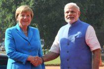 German Chancellor Merkel given ceremonial welcome