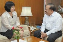 Ambassador of Philippines to India, Maria Teresita C. Daza meeting the Minister for Science & Technology and Earth Sciences