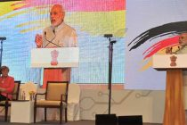 Prime Minister, Narendra Modi addressing at the Indo-German Summit 2015, organised by the NASSCOM & Frauenhofer Institute