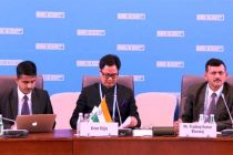 MoS for Home Affairs, Kiren Rijiju addressing at the First Ministerial Meeting of the Head of Migration authorities of BRICS
