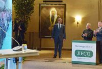 President, Pranab Mukherjee and the HM King Abdullah of Jordan at the Remote inauguration of JIFFCO Plant,