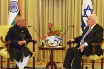 President, Pranab Mukherjee meeting the President of Israel, Reuven Rivlin, at President House, Jerusalem
