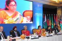 MoS for Commerce & Industry (IC), Nirmala Sitharaman addressing the 4th India-Africa Trade Ministers' meeting