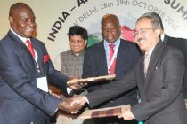 MoS (IC) for Power, Coal and New and Renewable Energy, Piyush Goyal and the Minister of Finance and Economic Development, Zimbabwe, P.A. Chinamasa