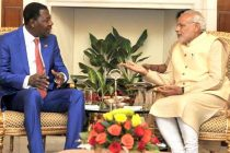 Prime Minister, Narendra Modi meeting the President of the Republic of Benin, Dr. Boni Yayi, during the 3rd India Africa Forum Summit