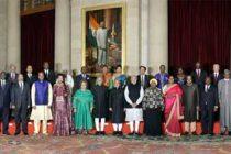 President, Pranab Mukherjee, the Vice President, Mohd. Hamid Ansari and the Prime Minister, Narendra Modi