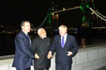 Prime Minister, Narendra Modi, the Prime Minister of United Kingdom (UK), David Cameroon and the Mayor of London