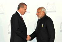 Prime Minister, Narendra Modi being welcomed by the President of Turkey, Recep Tayyip Erdogan, at the G20 Summit 2015