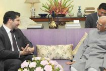 Deputy Foreign Minister of Afghanistan, Hekmat Khalil Karzai calling on the Vice President, Mohd. Hamid Ansari