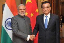Prime Minister, Narendra Modi meeting the Prime Minister of China, Li Keqiang, in Malaysia on November 21, 2015.
