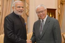 Prime Minister, Narendra Modi meeting the President of Singapore, Tony Tan Keng Yam, in Istana, Singapore on November 24, 2015.