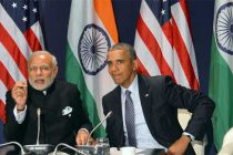 Prime Minister, Narendra Modi meeting the President of United States of America, Barack Obama, on the sidelines of COP21 Summit