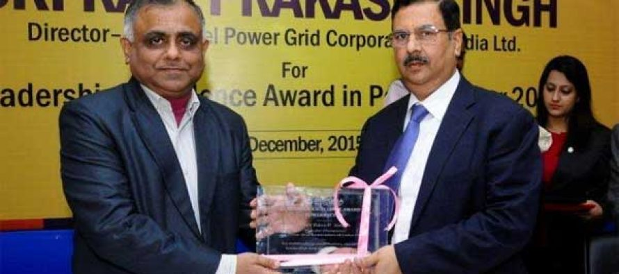 Ravi P.Singh Director Personnel bestowed with Leadership Excellence Award
