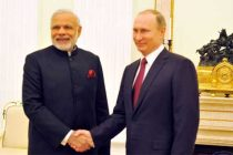 Modi arrives in Russia, meets Putin