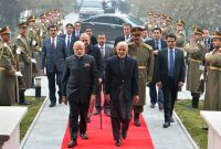 President of Afghanistan, Dr. Ashraf Ghani welcomes the Prime Minister, Narendra Modi, at President House, at Kabul