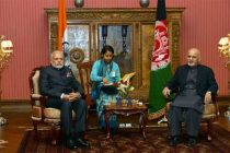 Prime Minister, Narendra Modi in tete a tete with the President of Afghanistan, Dr. Ashraf Ghani, at Kabul