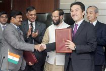 MoS for Environment, Forest and Climate Change (IC), Prakash Javadekar and the Ambassador of Japan to India, Kenji Hiramatsu