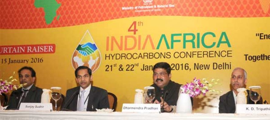 MoS for Petroleum and Natural Gas (IC), Dharmendra Pradhan addressing the curtain-raiser press conference