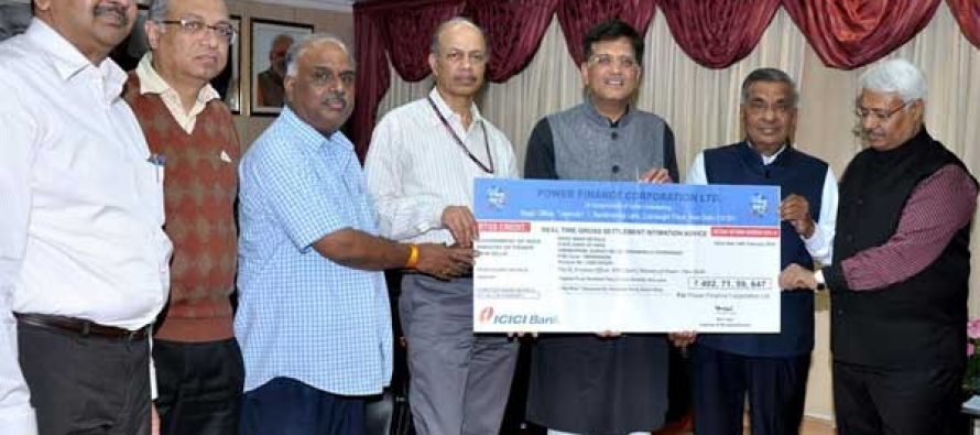 PFC  pays 2nd Interim Dividend of Rs. 402.72 Crores to Govt. of India
