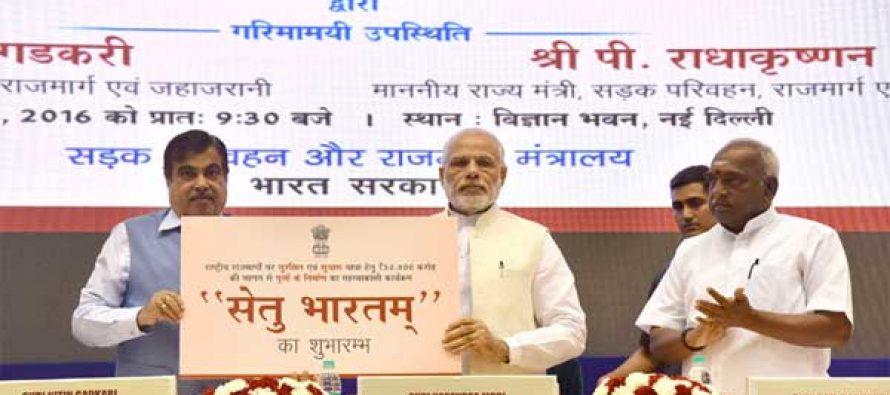Modi launches 'Setu Bharatam' programme