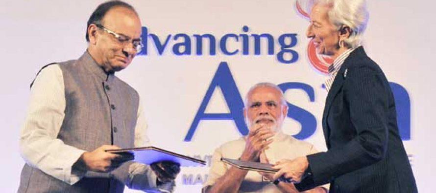 "The Prime Minister, Narendra Modi at MOF-IMF Conference on ""Advancing Asia: Investing for the Future"", in New Delhi."