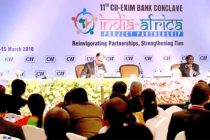 Minister of State (IC) for Power, Coal and New and Renewable Energy, Piyush Goyal addressing the CII-EXIM Bank Conclave