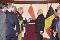Modi meets members of EU, Belgian parliaments