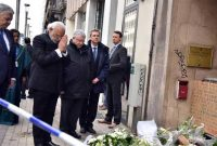 Prime Minister, Narendra Modi paying homage to victims of terror attack at the Maelbeek Metro station, in Brussels, Belgium.