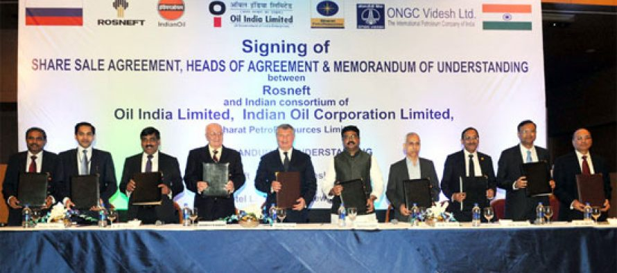 Indian oil firms ink deal to buy stake in Russia's Vankor fields