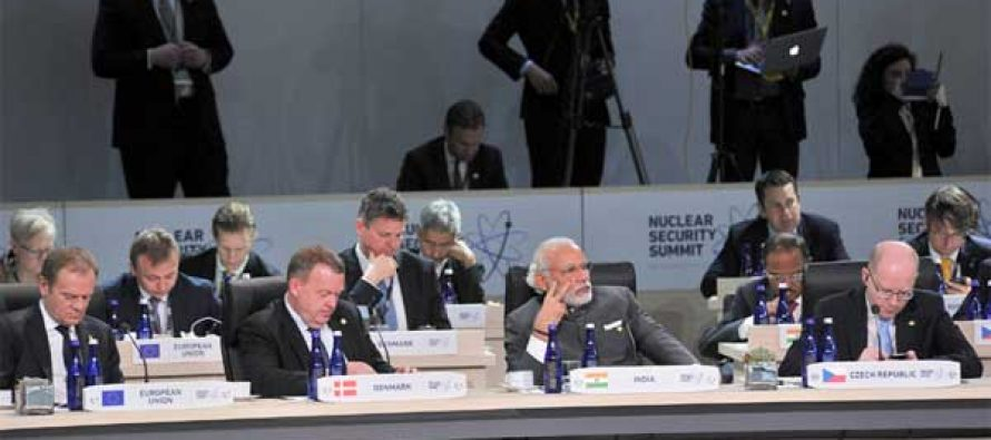 Prime Minister, Narendra Modi at the Opening Plenary of the Nuclear Security Summit 2016, in Washington DC on April 01, 2016.
