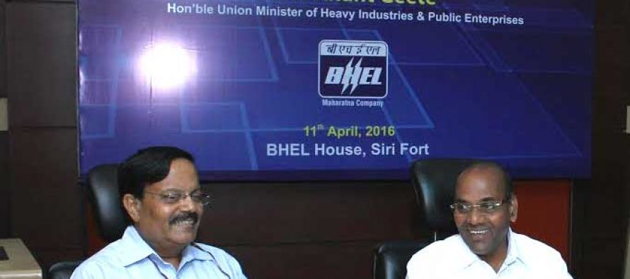 Anant Geete, Minister for HI&PE, reviews Performance of BHEL