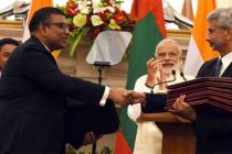 Prime Minister, Narendra Modi and the President of the Republic of Maldives, Abdulla Yameen Abdul Gayoom