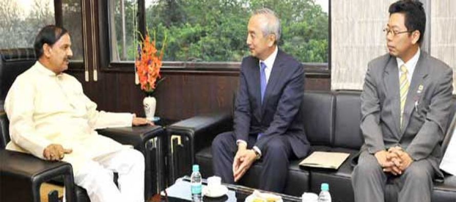 Ambassador of Japan to India, Kenji Hiramatsu meeting the MoS for Culture (IC), Tourism (IC) and Civil Aviation, Dr. Mahesh Sharma