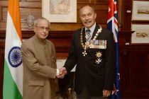 President India, Shri Pranab Mukherjee, meeting with H.E. Lieutenant General, The Rt. Hon'ble Sir Jerry Mateparae, GNZM, QSO