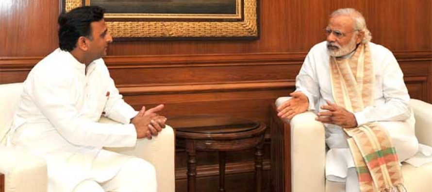 Akhilesh meets PM over drought situation