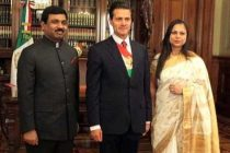 MR. MUKTESH PARDESHI, AMBASSADOR OF INDIA TO MEXICO PRESENTING HIS CREDENTIALS TO PRESIDENT OF MEXICO
