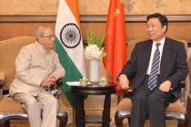 President, Pranab Mukherjee meeting the Vice President, Li Yuanchao, in Beijing, China on May 25, 2016.