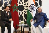 Minister of State for Foreign Affairs, Morocco, Nasser Bourita calling on the Vice President, M. Hamid Ansari,